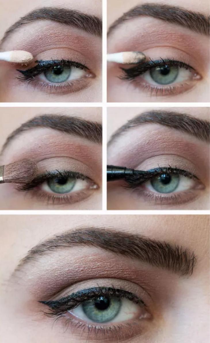 Стрелки на глазах : выбираем вариант для своего типа глаз и правильно 3