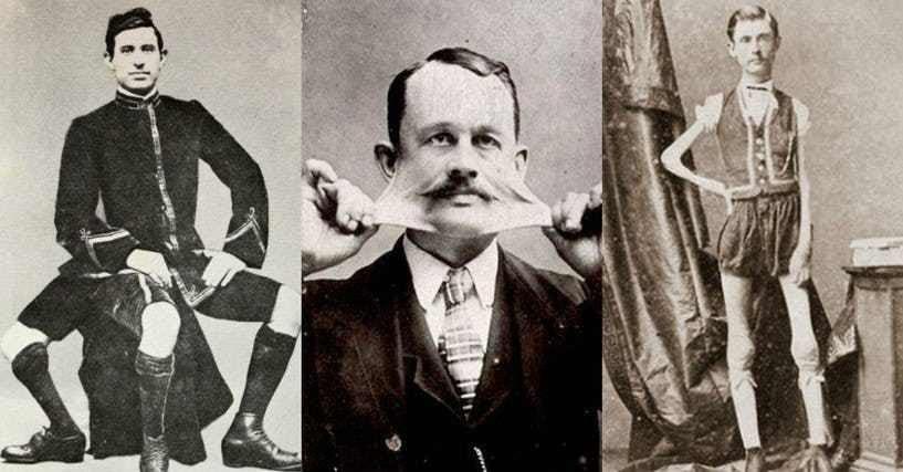 Шоу уродов: множество знаменитых и пугающих артистов.