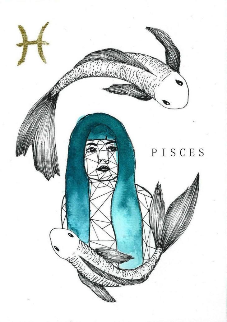 Картинки как нарисовать знак зодиака рыба